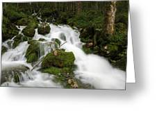 Glacier Sources Greeting Card
