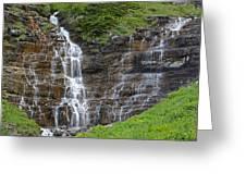 Glacier Waterfalls Greeting Card