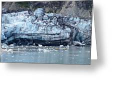 Glacier With Kayakers Greeting Card