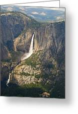 Glacierpoint Yosemitefalls Greeting Card