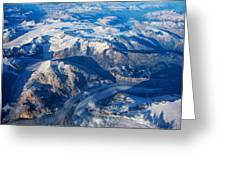 Glaciers In The Coast Range British Columbia Canada Greeting Card by Mary Lee Dereske