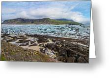 Glacier, Vatnajokull National Park, Iceland Greeting Card