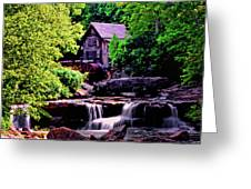 Glade Creek Grist Mill 004 Greeting Card