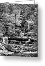 Glade Creek Grist Mill 3 - Paint 2 Bw Greeting Card