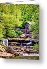 Glade Creek Grist Mill 3 - Paint Greeting Card
