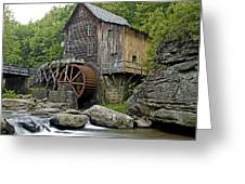 Glade Creek Grist Mill Located In Babcock State Park West Virginia Greeting Card by Brendan Reals