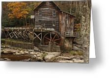 Glade Grist Mill In Autumn Greeting Card by Ola Allen