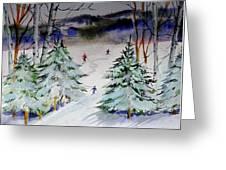 Glades At Killington Vermont Greeting Card