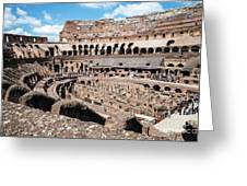 Gladiators And Christians Greeting Card