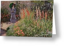Gladioli Greeting Card by Claude Monet