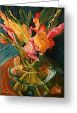 Glads In Glass Greeting Card