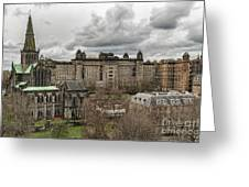 Glasgow Cathedral And Victoria Infirmary Greeting Card