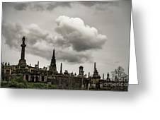 Glasgow Necropolis Graveyard Greeting Card