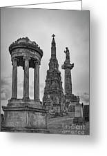 Glasgow Necropolis Graveyard Memorials Greeting Card