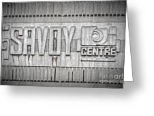 Glasgow Savoy Centre Greeting Card