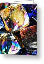 Glass Abstract 114 Greeting Card