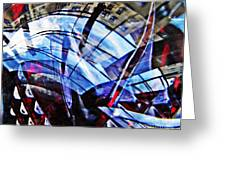 Glass Abstract 219 Greeting Card