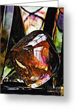 Glass Abstract 315 Greeting Card