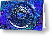 Glass Abstract 480 Greeting Card