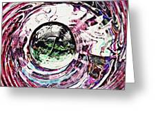 Glass Abstract 515 Greeting Card