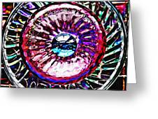 Glass Abstract 516 Greeting Card