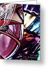 Glass Abstract 523 Greeting Card