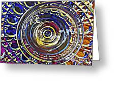 Glass Abstract 587 Greeting Card