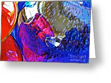 Glass Abstract 609 Greeting Card