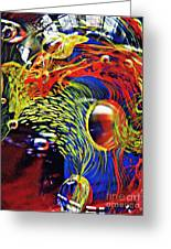 Glass Abstract 630 Greeting Card