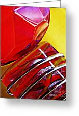 Glass Abstract 649 Greeting Card
