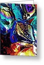 Glass Abstract 687 Greeting Card