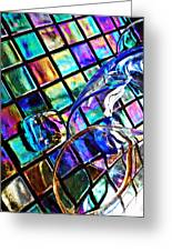 Glass Abstract 696 Greeting Card