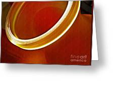 Glass Abstract 776 Greeting Card