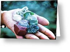 Glass And Stone Greeting Card