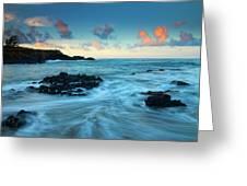 Glass Beach Dawn Greeting Card by Mike  Dawson