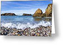 Glass Beach, Fort Bragg California Greeting Card