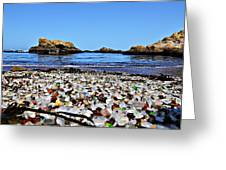 Glass Beach  Greeting Card