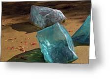 Glass Blocks With Shadows Greeting Card
