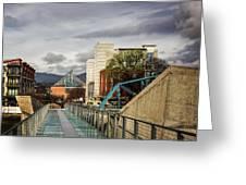Glass Bridge To The Aquarium Greeting Card