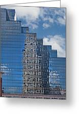 Glass Building Reflections Greeting Card