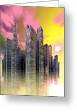 Glass City Greeting Card