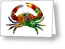 Glass Crab Greeting Card