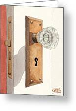 Glass Door Knob And Passage Lock Revisited Greeting Card