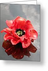 Glass Flower Greeting Card