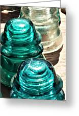Glass Insulators Greeting Card