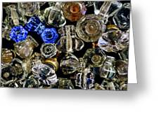 Glass Knobs Greeting Card