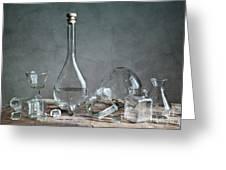 Glass Greeting Card by Nailia Schwarz
