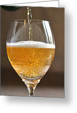 Glass Of Lager Greeting Card