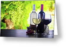 Enjoying Wine Greeting Card