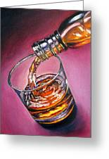 Glass Of Wine Original Oil Painting Greeting Card